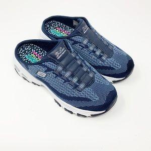 Skechers | D'Lites Navy Slip On Sneakers